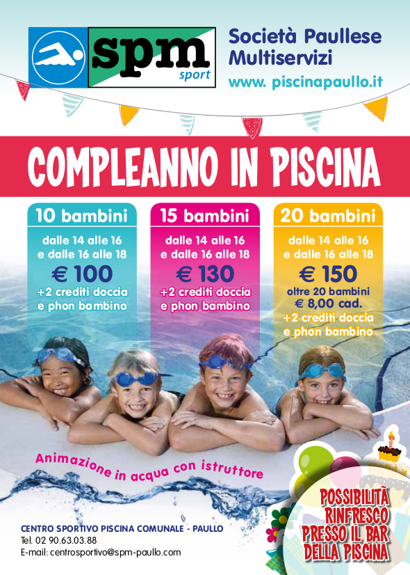 Compleanno in Piscina